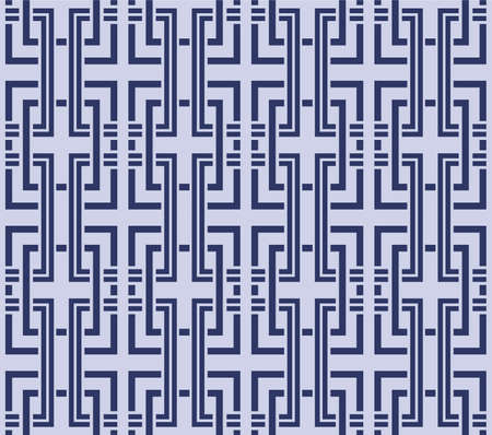 Japanese Square Weave Line Vector Seamless Pattern