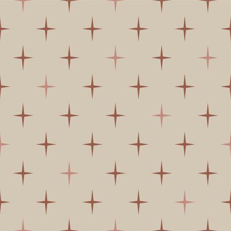 Japanese Star Vector Seamless Pattern