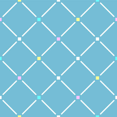Japanese Diagonal Square Line Vector Seamless Pattern
