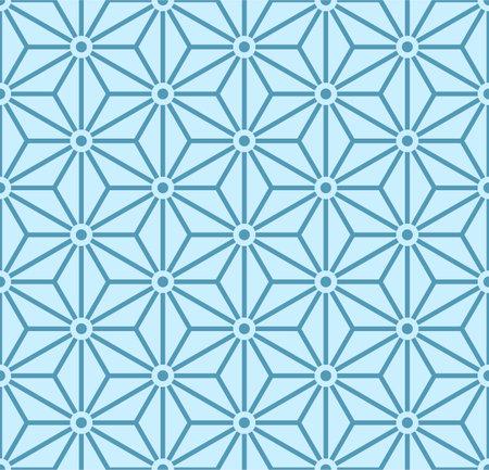 Japanese Hexagon Star Line Vector Seamless Pattern Illusztráció
