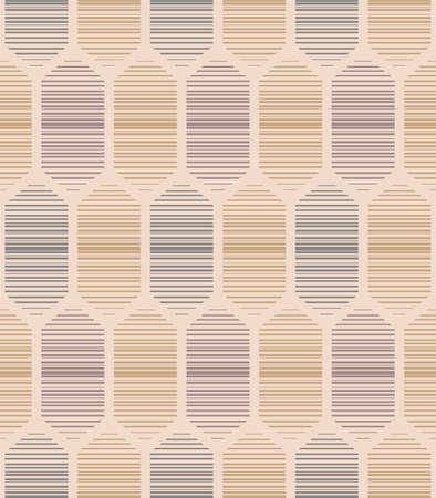 Japanese Hexagon LIne Art Vector Seamless Pattern 向量圖像