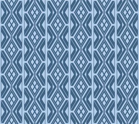 Japanese Geometric Zigzag Vector Seamless Pattern Illustration