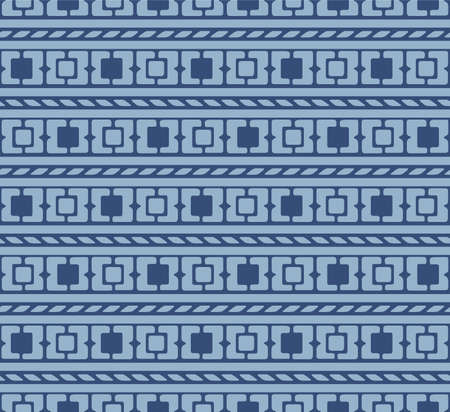 Japanese Square Art Vector Seamless Pattern Illustration