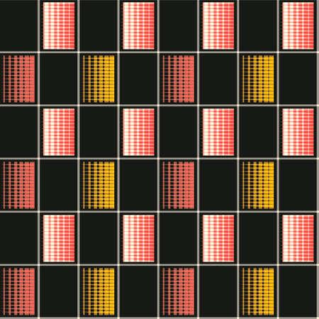 Japanese Checkered Motif Vector Seamless Pattern Illustration