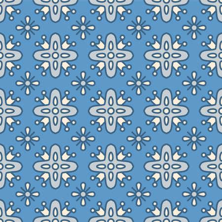 Japanese Tribal Star Vector Seamless Pattern Illustration