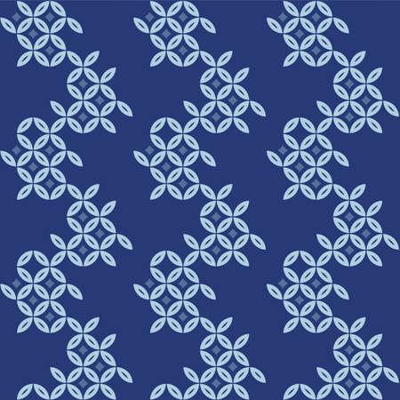 Japanese Circle Petal Vector Seamless Pattern