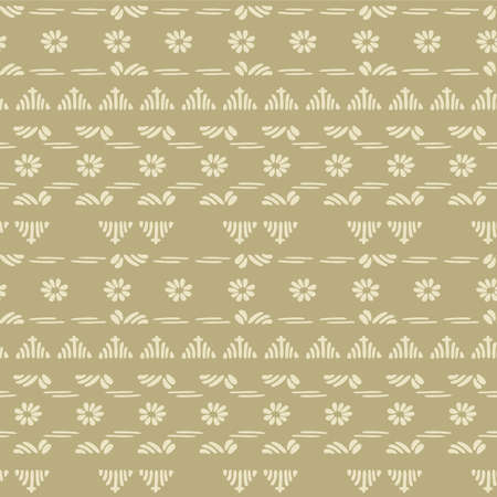 Japanese Tiny Floral Motif Vector Seamless Pattern Illustration
