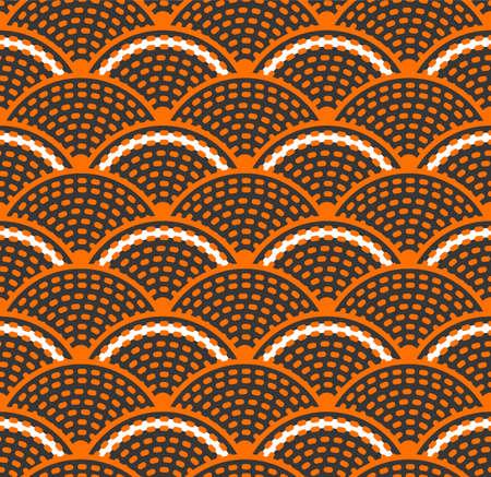 Japanese Dot Line Wave Vector Seamless Pattern