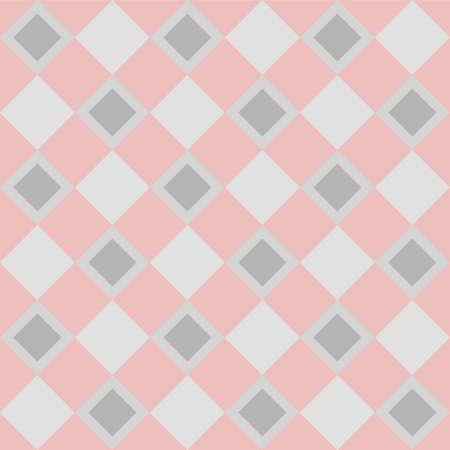 Japanese Square Diamond Checkered Vector Seamless Pattern Illustration