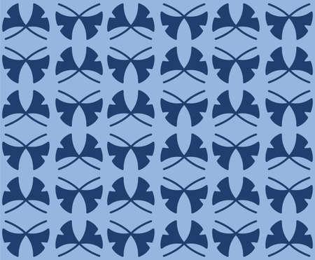 Japanese Ribbon Leaf Diamond Vector Seamless Pattern