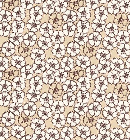 Japanese Falling Flower Vector Seamless Pattern Illustration