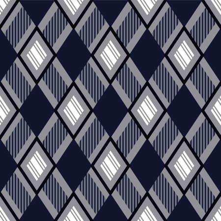 Japanese Diamond Weave Vector Seamless Pattern