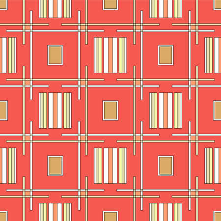Japanese Colorful Tribal Weave Vector Seamless Pattern Illustration