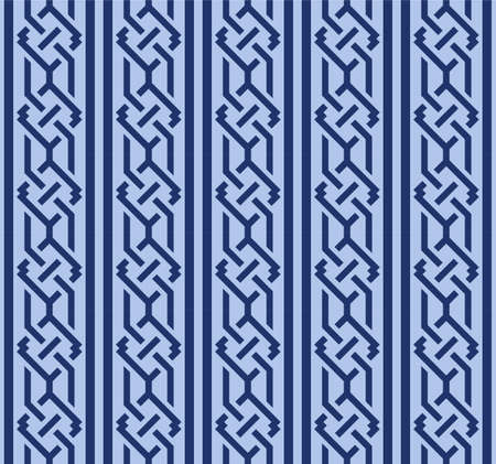 Japanese Geometric Chain Vector Seamless Pattern Illustration