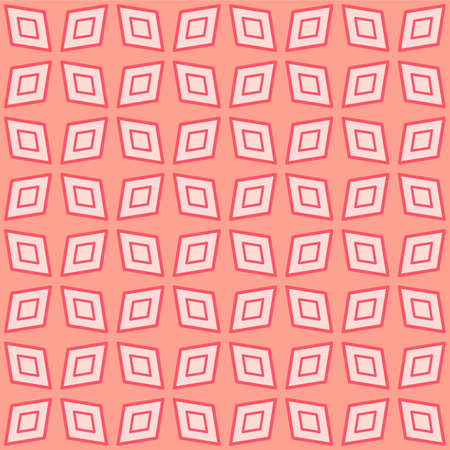 Japanese Geometric Flower Vector Seamless Pattern