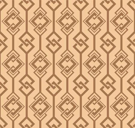Japanese Diamond Chain Vector Seamless Pattern Illustration