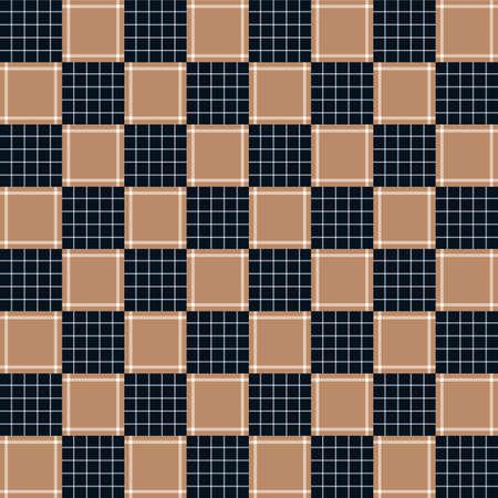 apanese Classic Plaid Vector Seamless Pattern Illustration