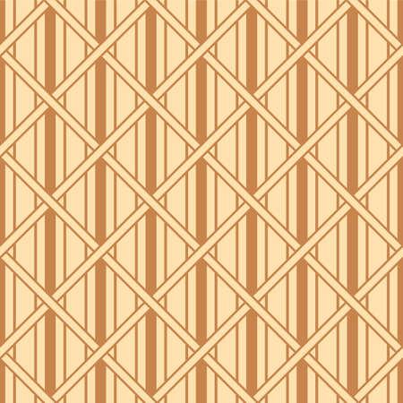 Japanese Diamond Weave Stripe Vector Seamless Pattern