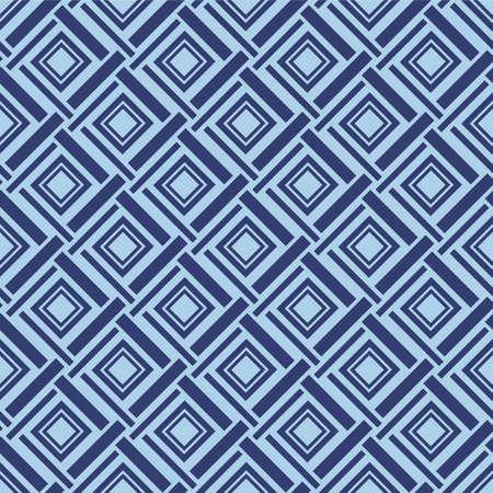 Japanese Weave Diamond Vector Seamless Pattern Illustration