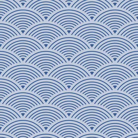 Japanese Circle Wave Vector Seamless Pattern