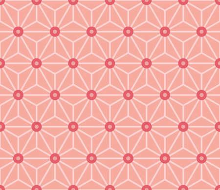 Japanese Hexagon Star Vector Seamless Pattern Illustration