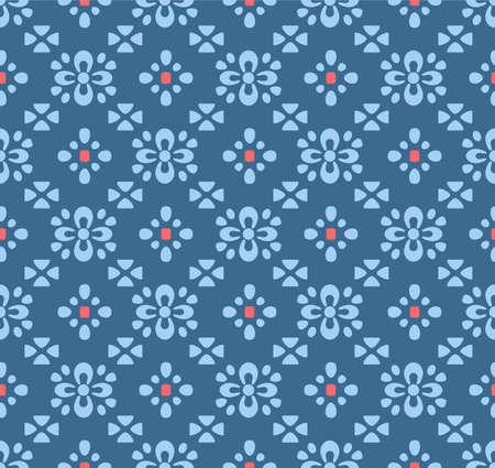 Japanese Flower Diagonal Tile Vector Seamless Pattern Illustration