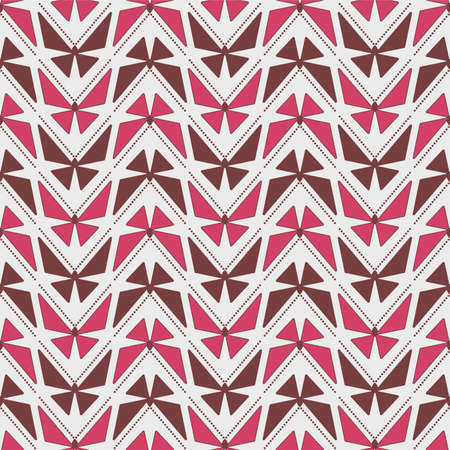 Japanese Geometric Butterfly Vector Seamless Pattern