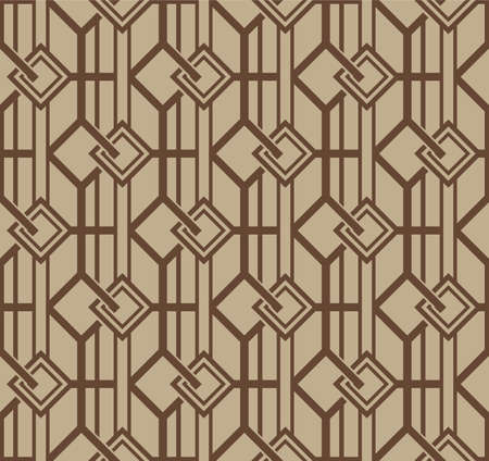 Japanese Square Chain Weave Vector Seamless Pattern