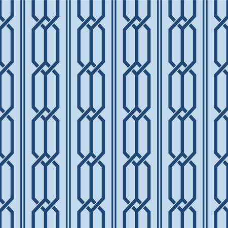 Japanese Overlap Hexagon Line Vector Seamless Pattern