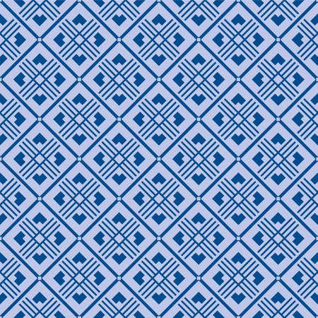 Japanese Square Diamond Vector Seamless Pattern Illustration