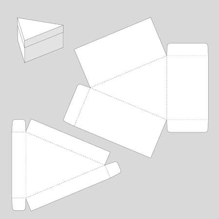 Triangle Box Template Vektoros illusztráció