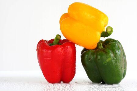 three fresh sweet pepper photo