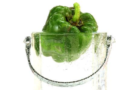 fresh sweet pepper in water photo
