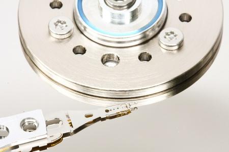 Hard disk drive inside photo