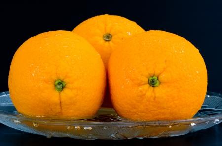 fruited: Orange on isolate  black background
