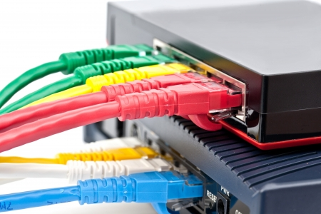lan: Ethernet switch isolated and router connect Lan