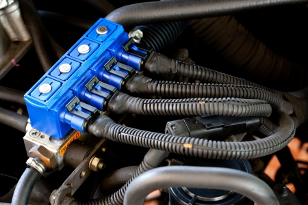 sequential: car sequential gas injection Stock Photo