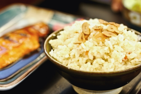 Bowl of egg fried rice an excellent side order Stock Photo - 20368025