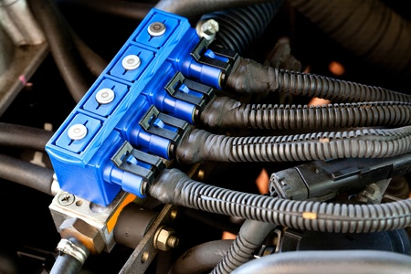 car sequential gas injection Stock Photo