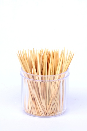 eddy: toothpicks in the bank on a white background