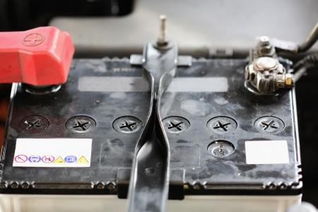 Battery car terminal photo