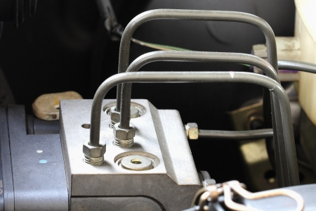 braking: Antilock braking system abs, closeup