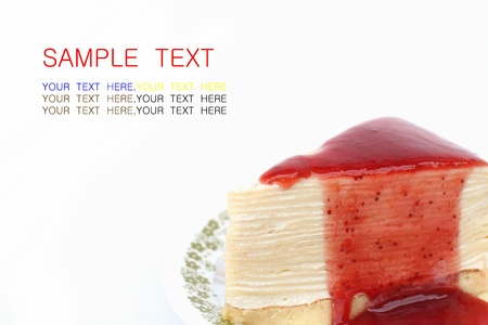 Strawberry cake on a white background  photo