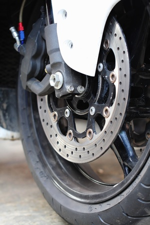 Front wheel brake  Big motorcycle photo
