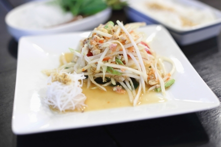The crab green papaya salad Stock Photo - 21639657