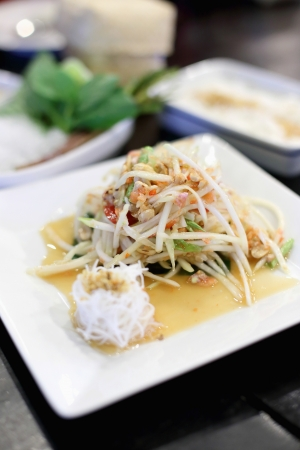 The crab green papaya salad Stock Photo - 21639658