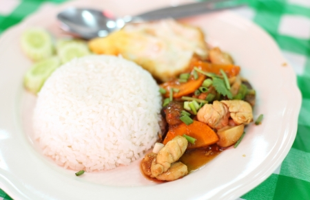 Thailand Food fried pork rice Stock Photo - 21832454