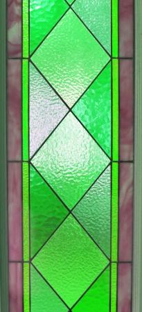 Multi-colored glass of window photo