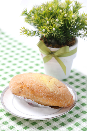 Bread topped with sugar photo