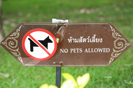 Pets not allowed sign photo